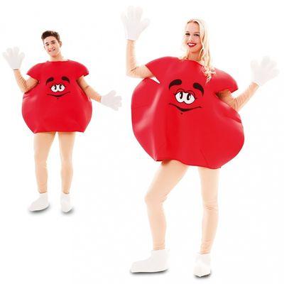 Rood M&M kostuum