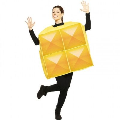 Tetris kostuum geel