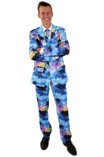 Tropical holiday kostuum 3-delig heren