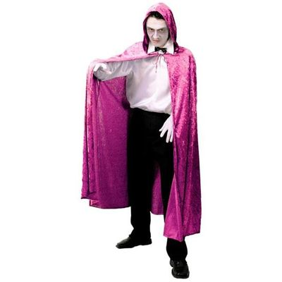 Lange cape met capuchon - Roze