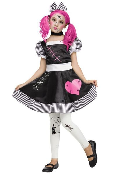 Poppen kostuum meisjes