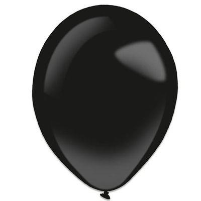 Foto van Ballonnen jet black (28cm) 50st