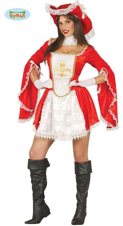 Musketier kostuum dames
