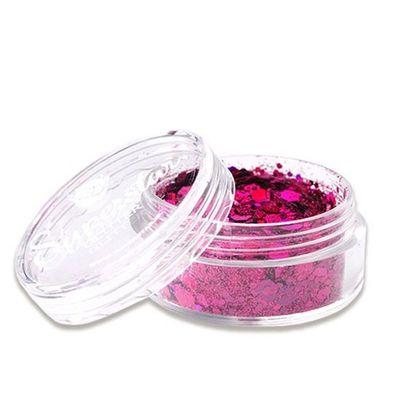 Foto van Gezicht glitter chunky roze