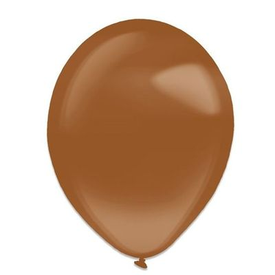 Ballonnen chocolate brown crystal (13cm) 100st