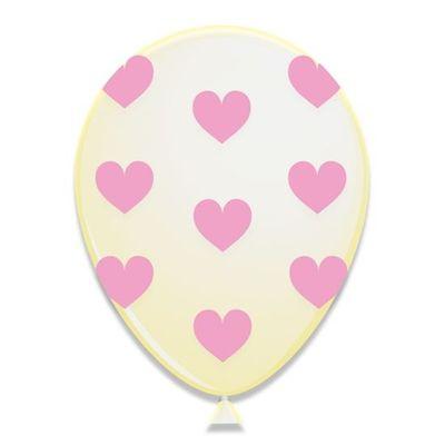Foto van Hartjes ballonnen Roze (30cm) 6st