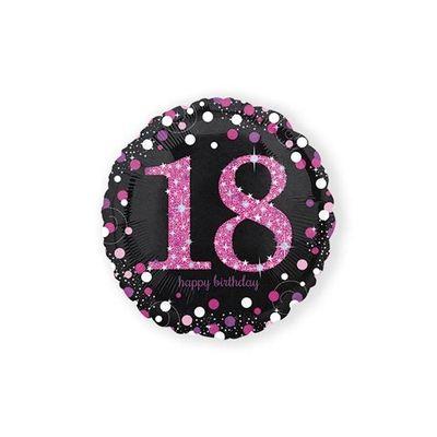 Foto van Folie ballon 18 jaar roze