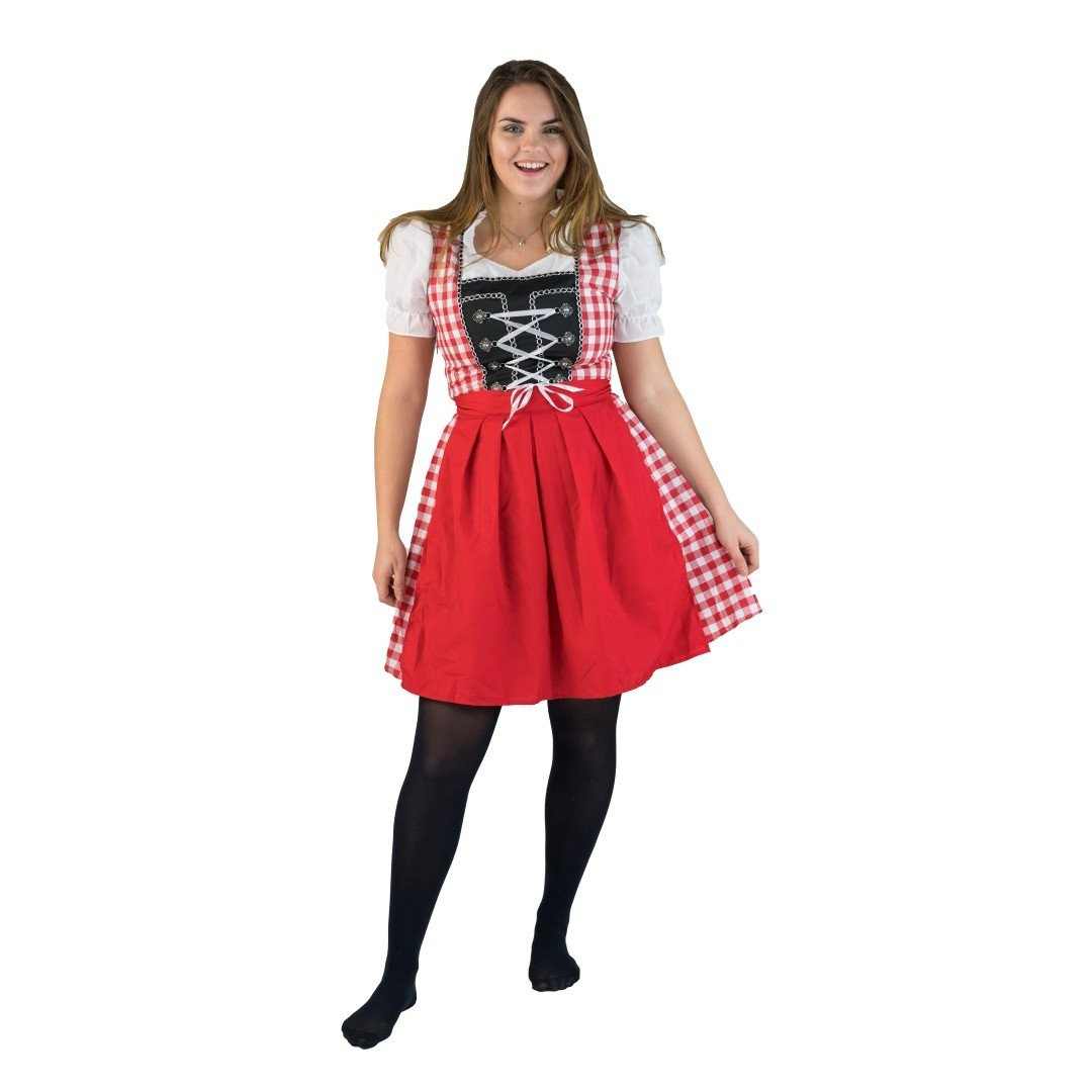 Dirndl jurkje rood - Annabel