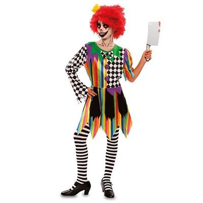 Creepy clown kostuum meisje
