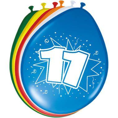 Leeftijd ballonnen 11 jaar 8 stuks
