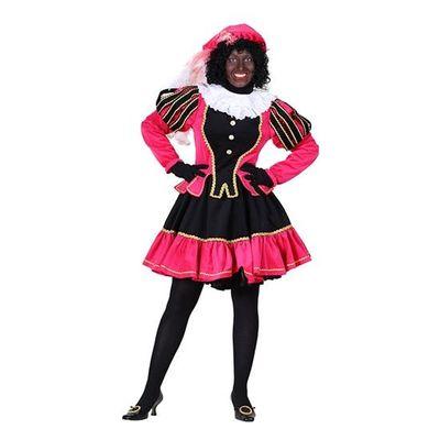 Foto van Dames pietenjurk zwart/roze
