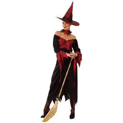 Heksen jurk - rood