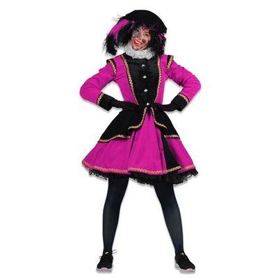 Dames pietenjurk Madrid zwart/roze