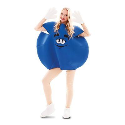Foto van Blauw M&M kostuum