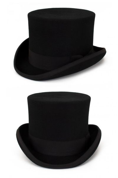 Hoge hoed wol zwart