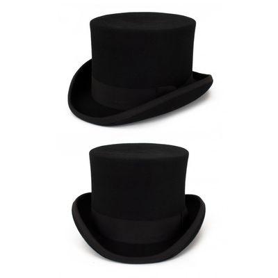 Foto van Hoge hoed wol zwart