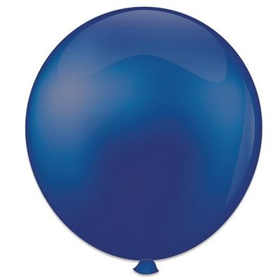Topballon donkerblauw (91cm) 6st
