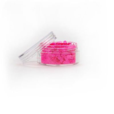 Festival glitter neon roze chunky