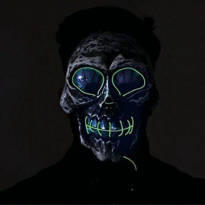Crazy Skull Masker met licht
