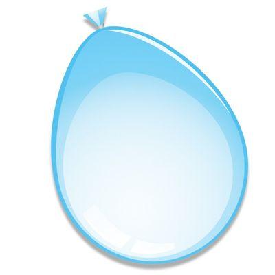 Ballonnen babyblauw (30cm) 10st