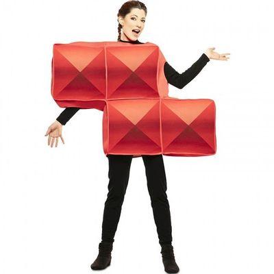 Foto van Tetris kostuum rood