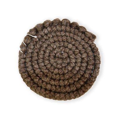 Wolcrêpe donkerbruin-grijs