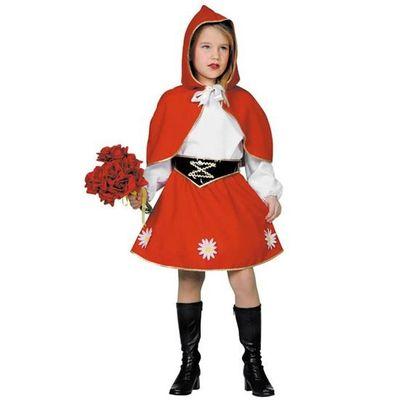 Foto van Roodkapje kostuum meisje