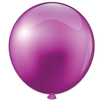 Topballon parel violet (91cm)