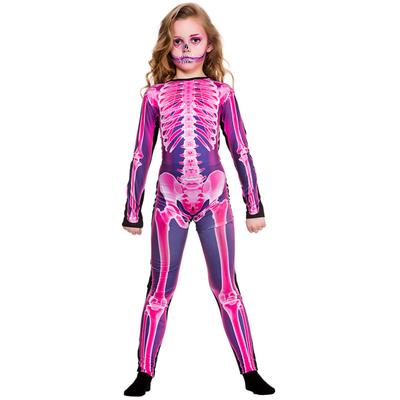 Foto van X-ray skeletten jumpsuit roze