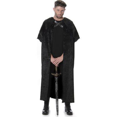 Foto van Zwarte cape met bont