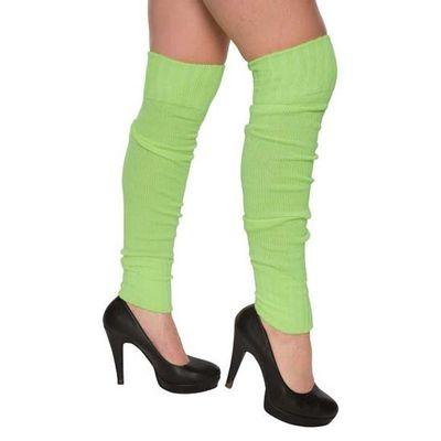 Beenwarmers over-knee groen