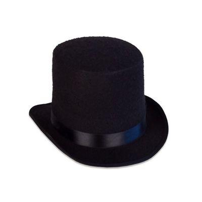 Foto van Hoge hoed vilt luxe zwart