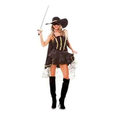 Foto van Zorro kostuum dames