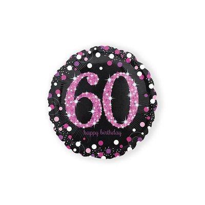 Foto van Folie ballon 60 jaar roze