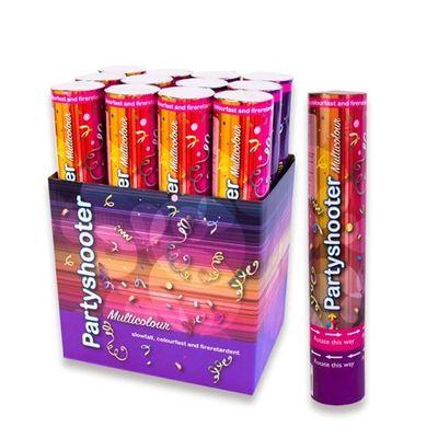 Confetti kanon 30 cm Multi kleurvast per stuk
