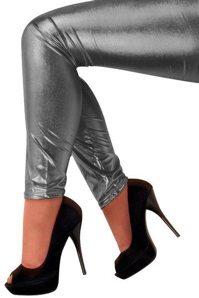 Legging metallic antraciet