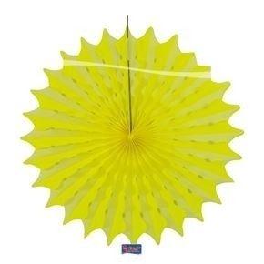 Papieren pompon neon geel