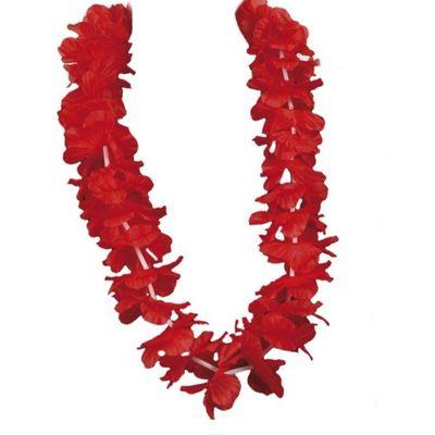 Foto van Hawaiikrans Ohana rood