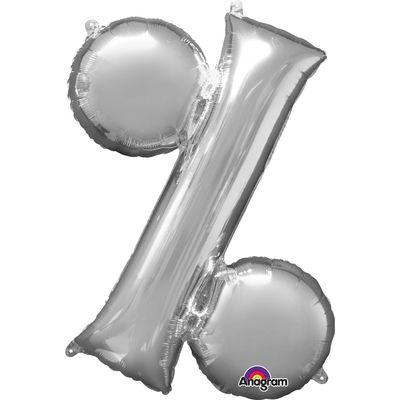 Folieballon procent % zilver
