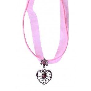 Ketting hartje roze