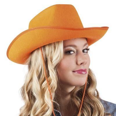 Hoed vilt Cowboy oranje