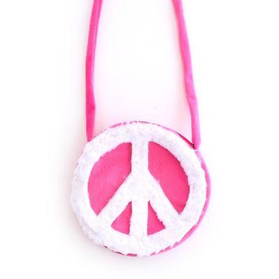 Hippie schoudertas roze