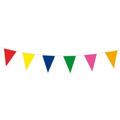 Vlaggenlijn assorti kleuren 10m/stk