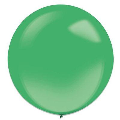 Foto van Ballonnen festive green (60cm) 4st