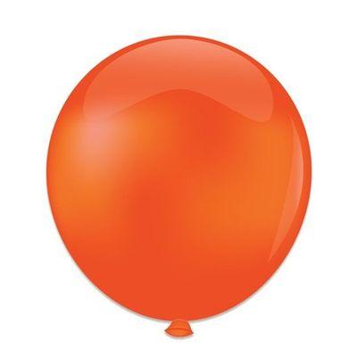 Foto van Ballonnen kristal oranje (61cm)