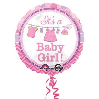 Folie ballon it's a girl