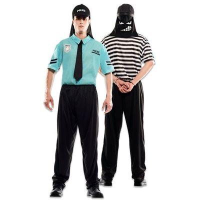 Foto van Double fun! Politie en boeven kostuum