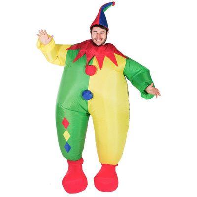 Foto van Opblaasbaar Clown kostuum