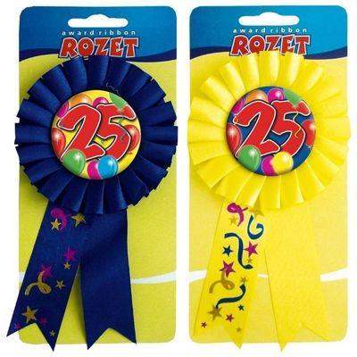 Rozet ballon 25 jaar/stk