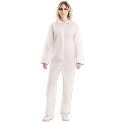 Witte overall